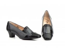 Zapatos Mujer Vestir Piel Negro Tacón JAM-5219 52,50€