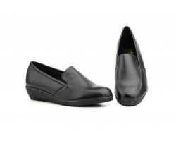 Zapatos Mujer Mocasín Elásticos Piel Negro Cuña JAM-392 39,90€