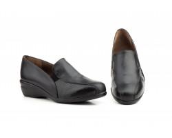 Zapatos Mocasín Mujer Piel Negro Elásticos Cuña JAM-78549,00€