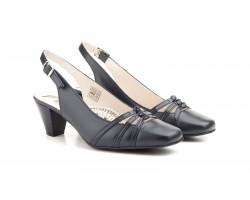 Zapatos Mujer Piel Marino Oscuro Tacón Hebilla JAM-5617 49,90€