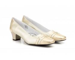 Zapatos Mujer Piel Platino Serpiente Tacón Bajo JAM-5922 49,90€