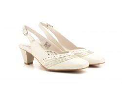 Zapatos Mujer Piel Salinas Descubiertos Tacón Hebilla JAM-5407 49,90€