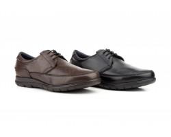 Zapatos Hombre Piel Negro Cordones KL-181059,50€