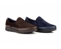 Zapatos Hombre Piel Serraje Marino Elásticos KL-1805 59,50€