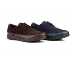 Zapatos Mujer Piel Serraje Marino Cordones KL-1815 59,50€