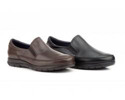 Zapatos Hombre Piel Negro Elásticos KL-180059,50€