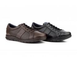 Zapatos Hombre Piel Negra Picada Cordones KL-1831 59,50€