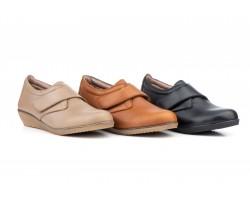 Zapatos Mujer Piel Cuña Velcro AE-394 39,90€