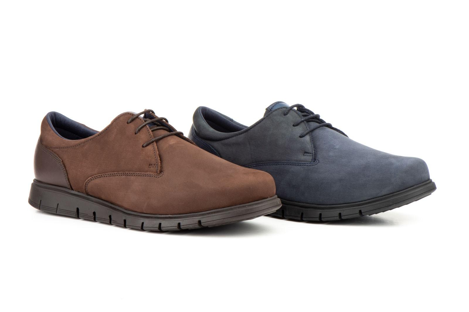 Zapatos Hombre Derby Piel Nobuck Cordones KL-285659,50€