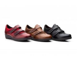 Zapatos Mujer Piel Cuña Doble Velcro JAM-5568 49,00€