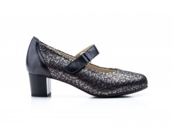 Zapatos Mujer Piel Gios Negro Licra Gavi's GV-7218 49,00€