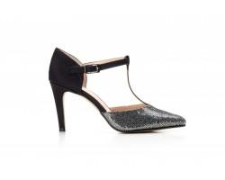 Zapatos Mujer Fiesta Tabarca Negro Brillante Tacón Pomares POMARES-518 49,00€