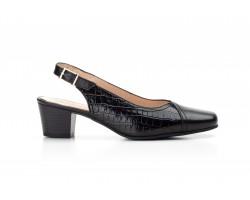 Zapatos Mujer Piel Negro Charol Tacón Ancho Kamatic KAMATIC-A4004 39,90€