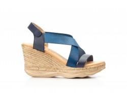 Sandalias Plataforma Mujer Piel Azul Gel DSD DSD-702245,50€
