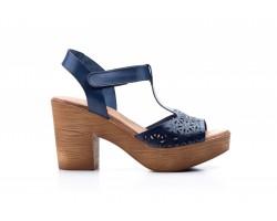 copy of Sandalias Plataforma Mujer Piel Azul Gel DSD AH-17145,50€