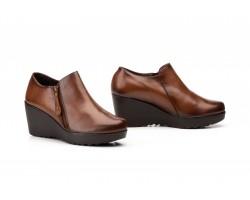 Zapatos Abotinados de Mujer con Cremallera Piel Cuero JAM-9006 49,90€