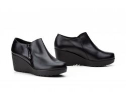 Zapatos Abotinados de Mujer con Cremallera Piel Negro JAM-9006 49,90€