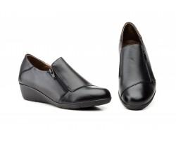 Zapatos Mujer Piel Negro Cremallera JAM JAM-623 39,90€
