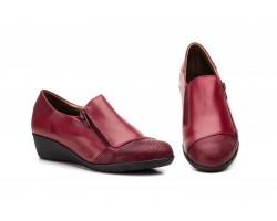 Zapatos Mujer Piel Burdeos Cremallera JAM JAM-623 39,90€