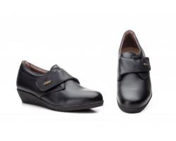 Zapatos Mujer Piel Negro Velcro AE-391 39,90€