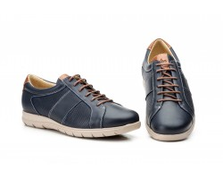 Zapatos Casual Hombre Piel Perforada Marino Keelan KL-1832 59,50€
