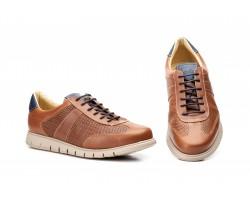 Zapatos Casual Hombre Piel Perforada Cuero Keelan KL-2862 59,50€