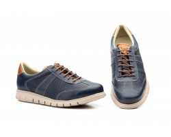 Zapatos Casual Hombre Piel Perforada Marino Keelan KL-2862 59,50€