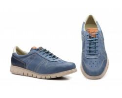 Zapatos Casual Hombre Piel Nobuck Azul Iris Keelan KL-2875 59,50€