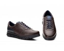 Zapatos Casual Hombre Piel Marrón Cordones Keelan KL-3874 59,50€