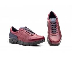 Zapatos Casual Hombre Piel Burdeos Cordones Keelan KL-3874 59,50€