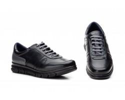 Zapatos Casual Hombre Piel Negro Cordones Keelan KL-3874 59,50€