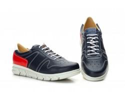 Zapatos Casual Hombre Piel Marino Rojo Cordones Keelan KL-3876 59,50€