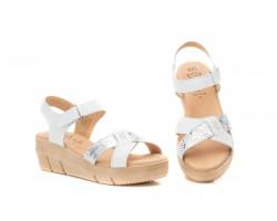 Sandalias Mujer Piel Blanco Plata Gel AE-64029,90€