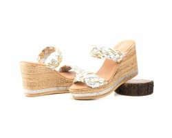 Sandals Women Silver Platinum Shine Wedge Platform Gel JAM JAM-251644,90 €