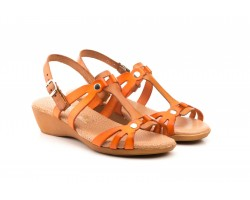 Women's Sandals Leather Vacillary Orange Leather Plant Wedge Gel JAM JAM-2010-NARANJA-CUERO44,90 €