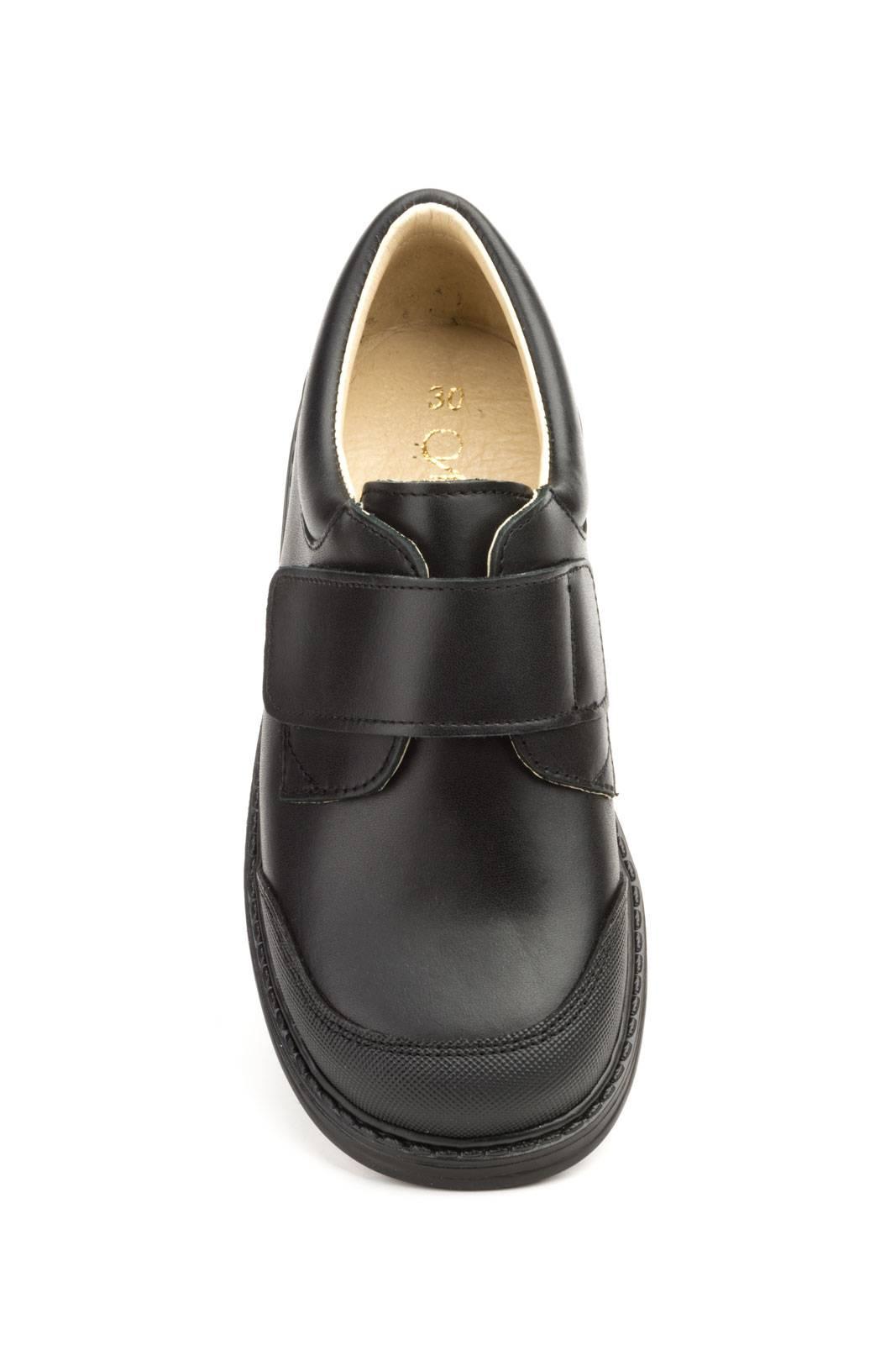 Zapatos Colegial Velcro Niño Cierre Piel Negro nwxWpzRw8q 4972d7d0133