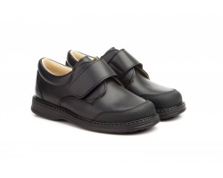 Shoes Schoolboy Child Black Leather Closure Type Velcro Serna SERNA-101244,90 €