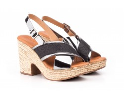 Woman Sandals Black Steel Platform Jute Heel JAM JAM-298859,50 €